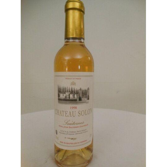 37,5 Cl Sauternes Château Solon Liquoreux 1998 - Bordeaux.