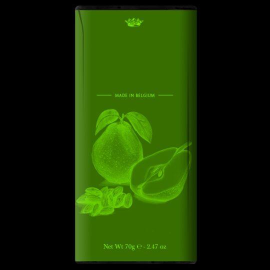 Tablette de chocolat noir 60% - Poires Et Amandes Grillées CHOCOLAT DOLFIN