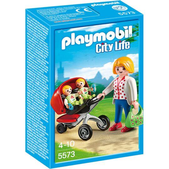 5573 - City life Maman avec jumeaux et landau PLAYMOBIL