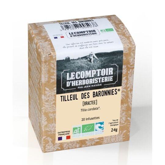Tisane Infusette Tilleul Des Baronies Bractee Bio (x20) LE COMPTOIR D'HERBORISTERIE