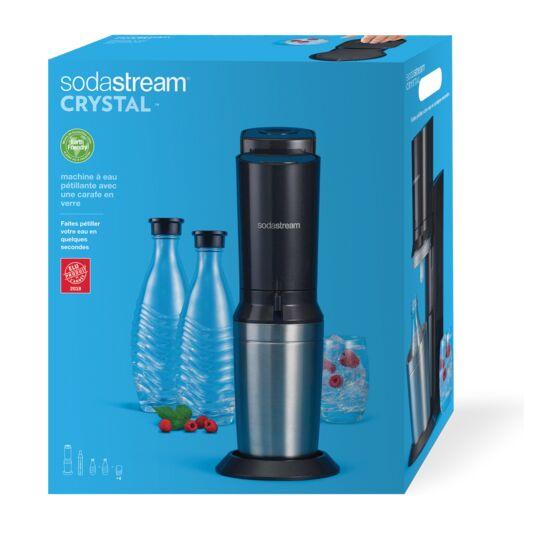 Machine à soda Crystal + 2 carafes + 4 verres - CRYSTALNCV - Noir
