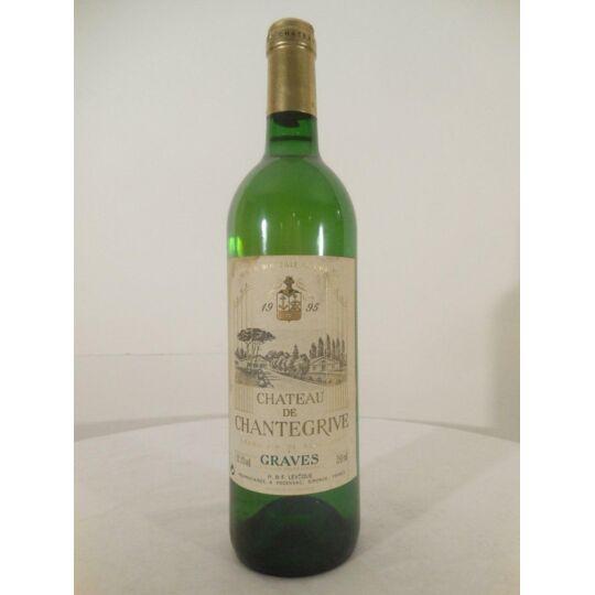 Graves Château Chantegrive Blanc 1995 - Bordeaux.