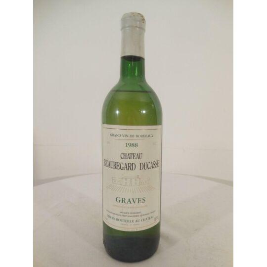 Graves Château Beauregard-ducasse Blanc 1988 - Bordeaux.