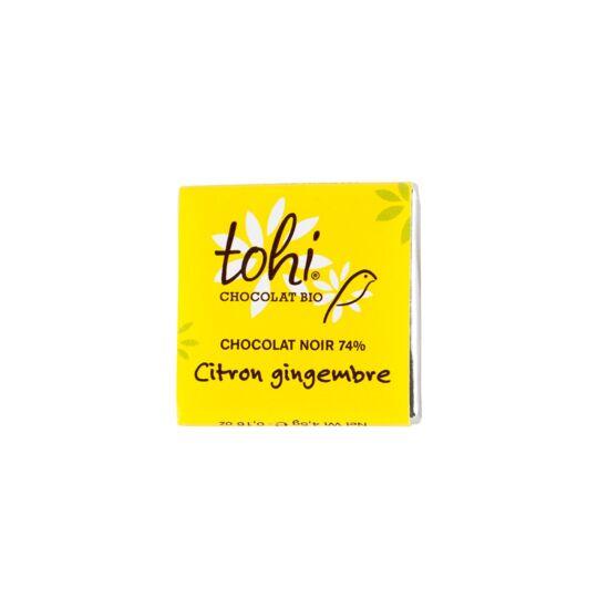 Carrés De Chocolat Noir 74% Bio Au Citron & Gingembre - Vrac 1800g CHOCOLAT TOHI