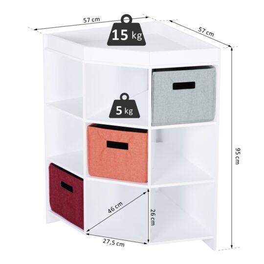 meuble de rangement d angle 3 tiroirs