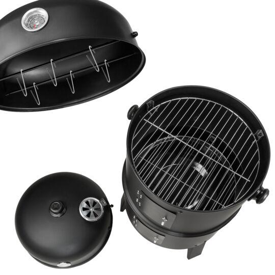 Barbecue Vertical 3 En 1 Fumoir TECTAKE