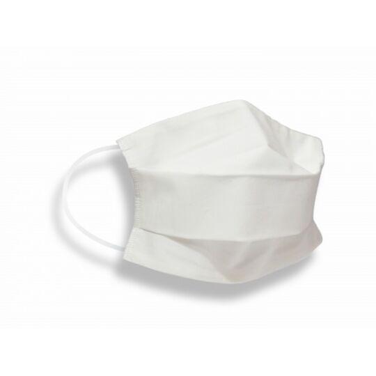 Masques Tissus Unis Adulte En Coton Certifié Dga/ifth Blanc