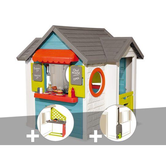 Cabane Enfant Smoby Chef House + Cuisine D'été + Récupérateur D'eau SMOBY