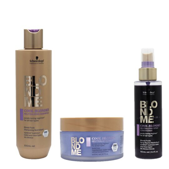 Pack Blondme Neutralisant Shamp 300ml + Masque 200ml + Spray 150ml