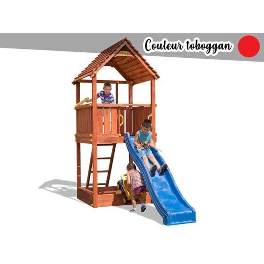 Aire De Jeux Joy + Toboggan Rouge FUNGOO