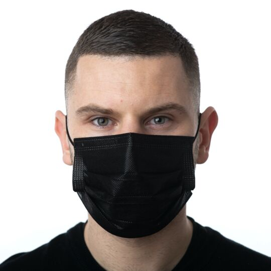 100 Masques Chirurgicaux Médicaux Noir Type 2 - 95% Filtration