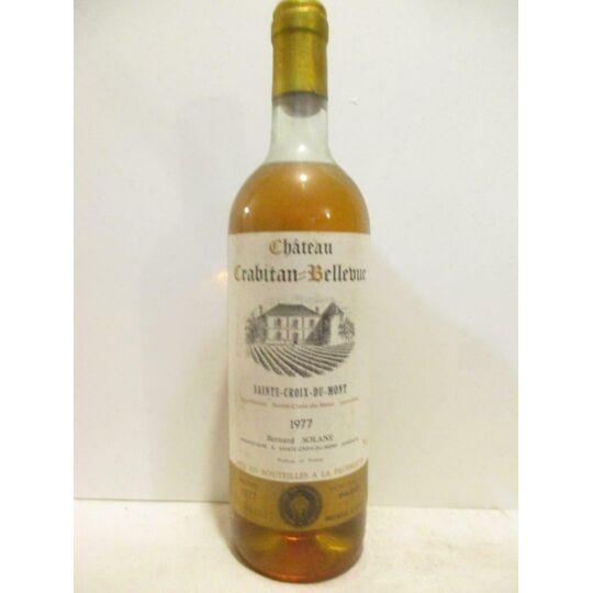 Sainte-croix Du Mont Château Crabitan-bellevue Liquoreux 1977 - Bordeaux