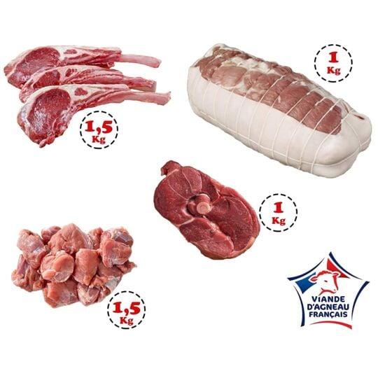 Colis d'Agneau Occitan - 5 Kg de viande d'Agneau origine France JEMANGEFRANÇAIS.COM