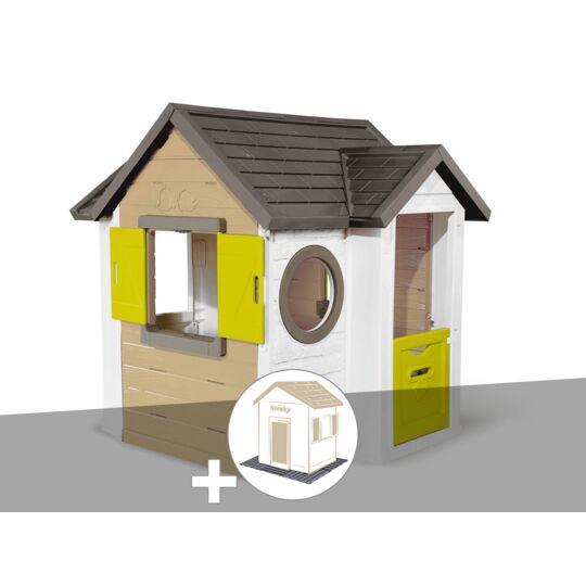 Cabane Enfant Smoby My New House + 2 Sets De 6 Dalles SMOBY