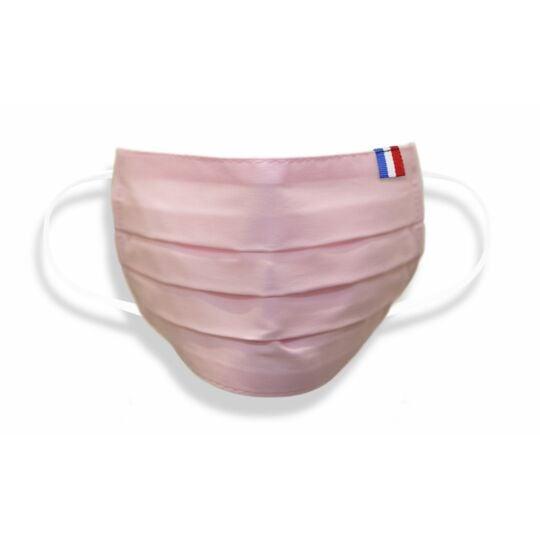 Masque Adulte Made In France En Tissu Rose