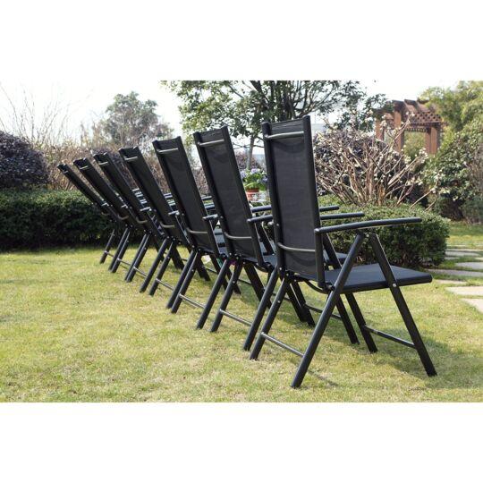 Ravenne 12. Salon De Jardin En Aluminium 12 Places Gris CONCEPT USINE