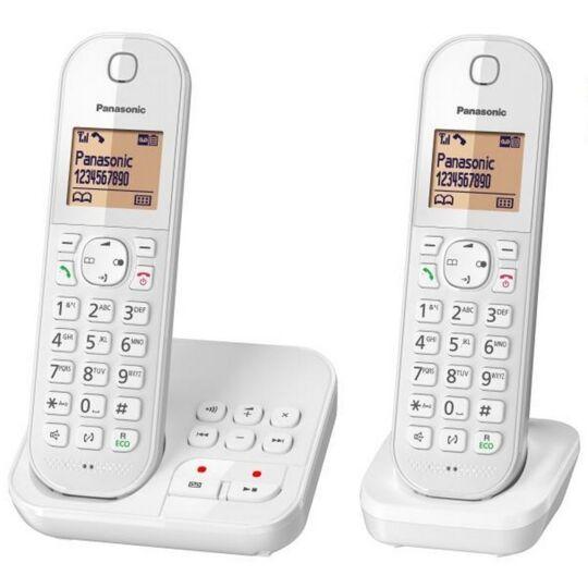 Téléphone fixe sans fil avec répondeur Duo KX-TGC422FRW