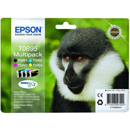 Pack de cartouche d'encre - C13T08954020 - Couleur + Noir