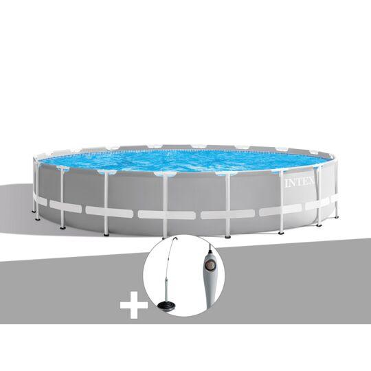 Kit Piscine Tubulaire Intex Prism Frame Ronde 6,10 X 1,32 M + Douche Solaire INTEX