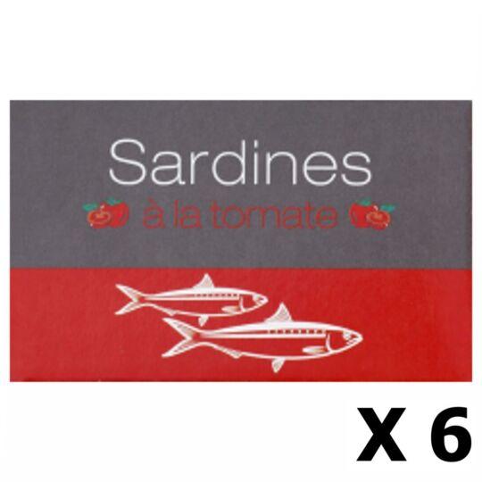 Lot 6x Sardines À La Tomate - Maroc - Conserve 125g AGIDRA