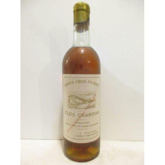 Sainte-croix Du Mont Clos Crabitan (année Visible Sur Bouchon) Liquoreux 1965