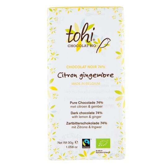 Chocolat Bio Noir 74% Cacao - Citron & Gingembre CHOCOLAT TOHI