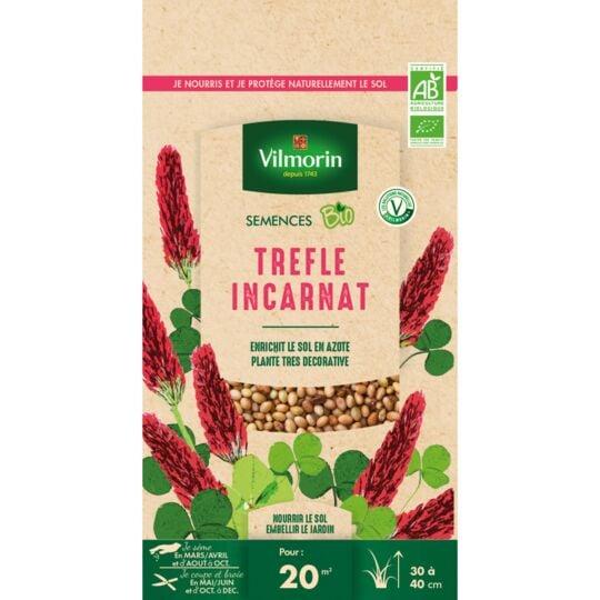 Graines De Trefle Incarnat Bio , Sachet De 60 Grs VILMORIN