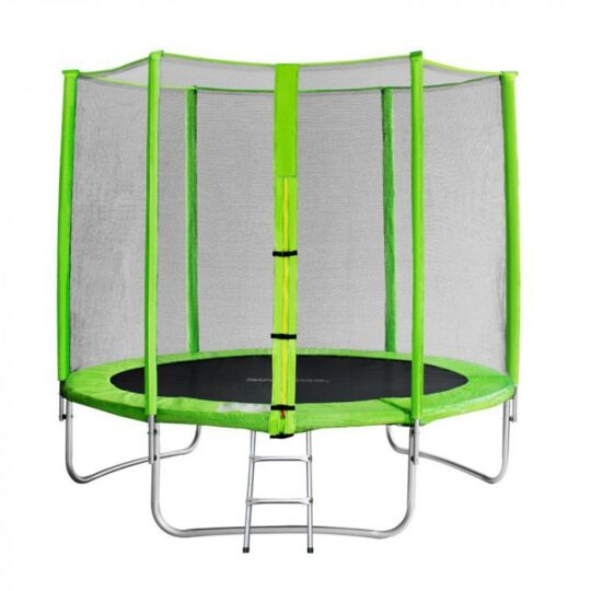 Trampoline De Jardin Vert Avec Echelle Myjump 2,45 M SANS MARQUE