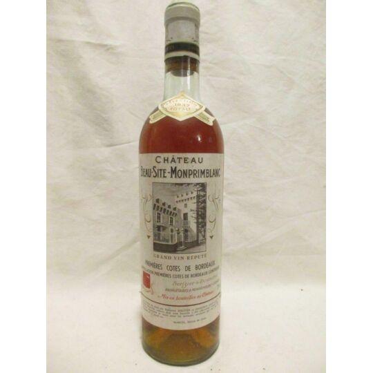 Premières Côtes De Bbx Ch Beau Site Monprimblanc Sélection Liquoreux 1937