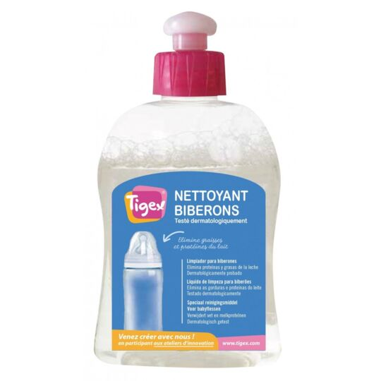 Lot De 8 Liquides Nettoyant Spécial Biberons 300 Ml TIGEX