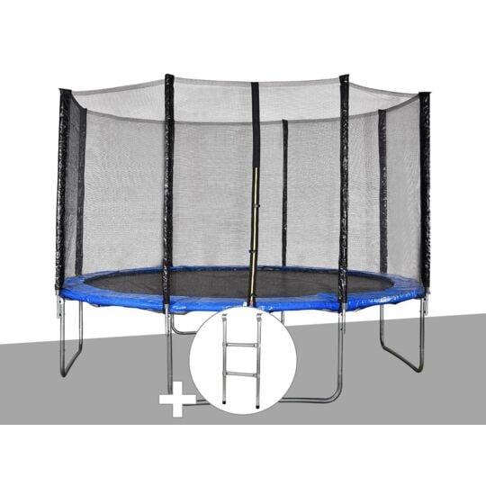 Kit Trampoline Jardideco Cronos Ø 3,66 M Bleu + JARDIDECO