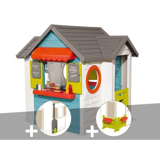 Cabane Enfant Smoby Chef House + Récupérateur D'eau + Espace Jardin SMOBY