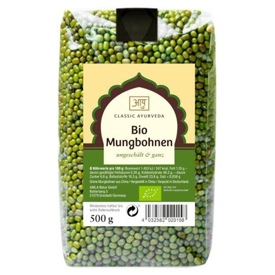 Haricots Mungo Indiens Entiers Bio 0.5kg CLASSIC AYURVEDA
