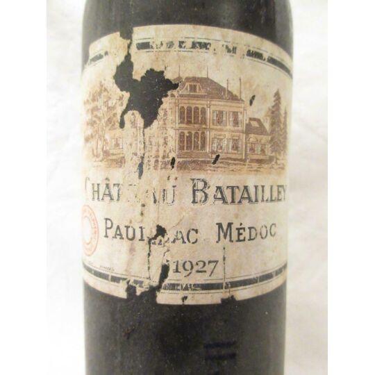 Pauillac Château Batailley Grand Cru Classé Rouge 1927 - Bordeaux CHÂTEAU BATAILLEY