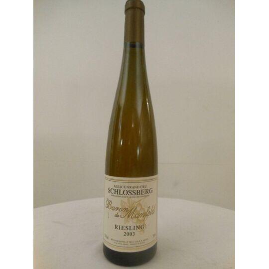 Riesling Baron De Manfeld Grand Cru Schlossberg Blanc 2003 - Alsace.