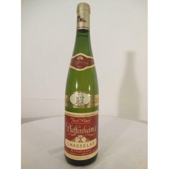 Chasselas Coopérative Pfaffenheim Cuvée Lafayette Blanc 1990 - Alsace.