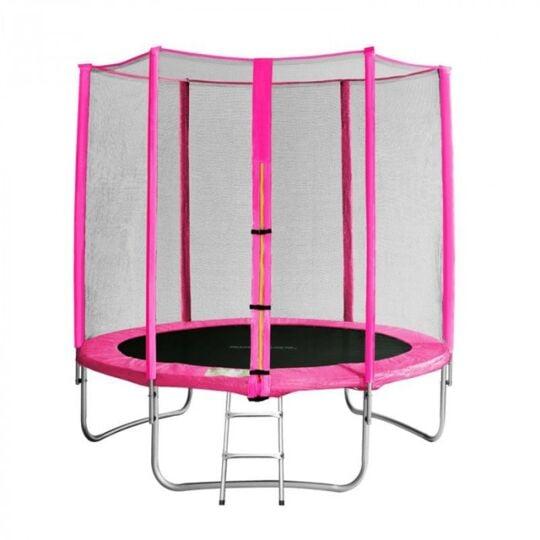 Trampoline De Jardin Rose Avec Echelle Myjump 1,85 M SANS MARQUE