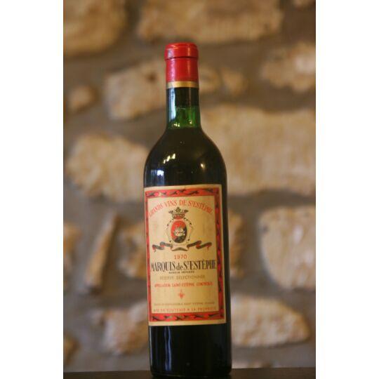 Vin Rouge, Marquis De St Estephe 1970 1970