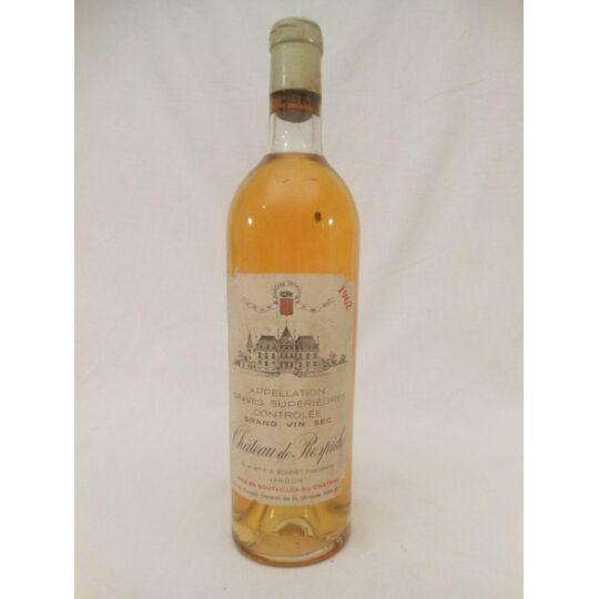 Graves Supérieures Château Respide (sec) Blanc 1962 - Bordeaux