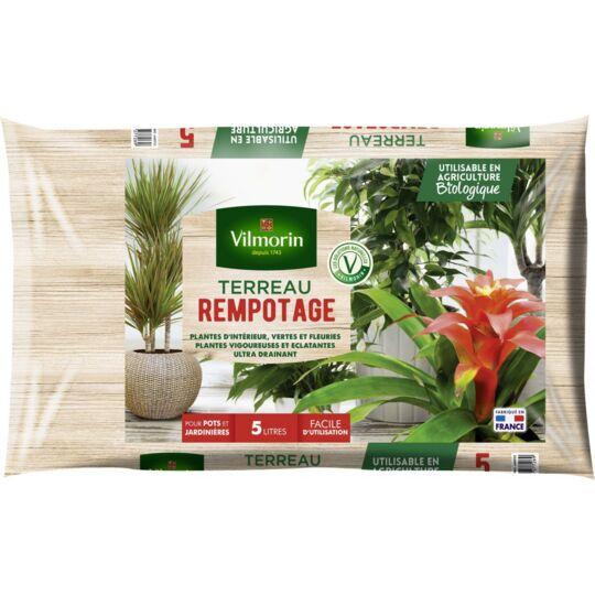 Terreau Rempotage Plantes D'intérieur Vertes Et Fleuries - Sac De 5 Litres