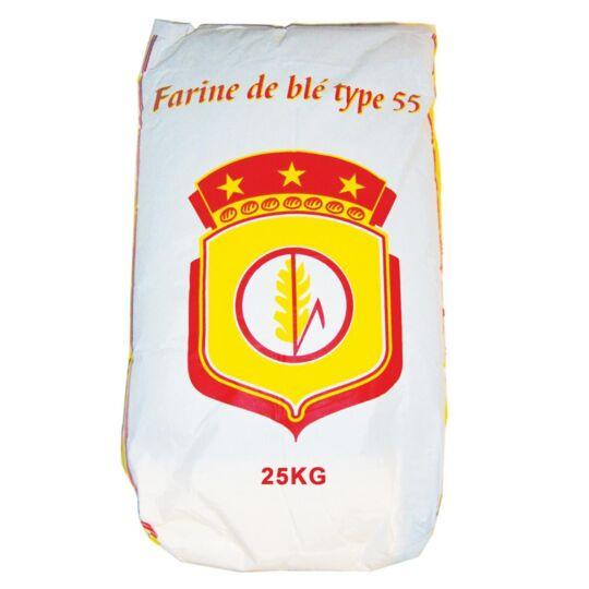 Farine De Blé Blanche Type T55 Multi-usage - Sac De 25kg - Origine Fra BLASON ROUGE