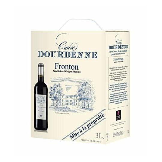 Cubi 3 Litres Vin Rouge Croix Dourdenne - Aop Fronton Rouge JEMANGEFRANÇAIS.COM