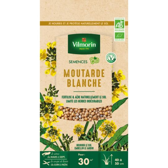 Graines De Moutarde Blanche Bio , Sachet De 60 Grs VILMORIN