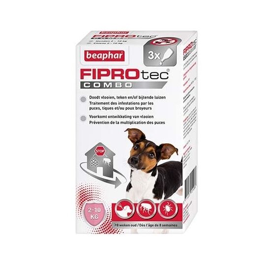 Fiprotec Combo Pipettes Antiparasitaires Chien Petite Taille (2-10kg) BEAPHAR