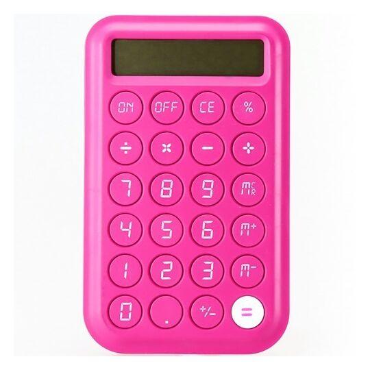 Calculatrice large - CCA41-Rose