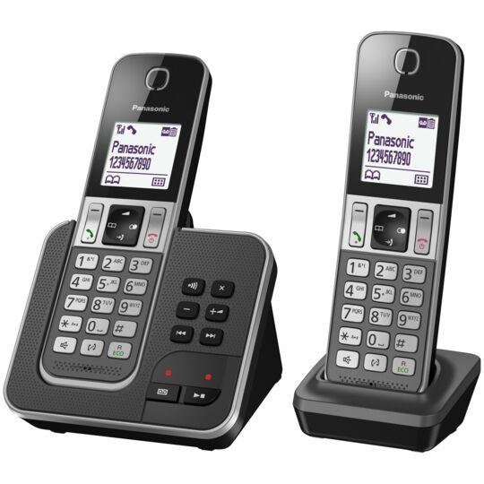 Téléphone fixe sans fil avec répondeur - TGD322FRG - Duo