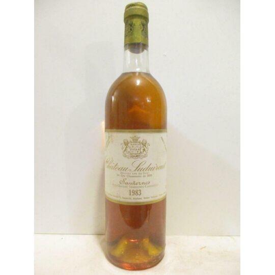 Sauternes Château Suduiraut Grand Cru Classé Liquoreux 1983 - Bordeaux