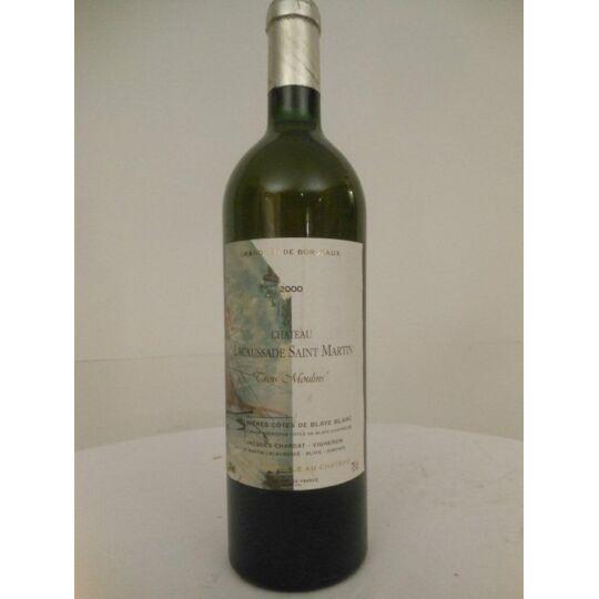 Blaye Château Lacaussade-saint-martin Blanc 2000 - Bordeaux.