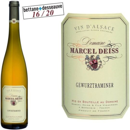 Domaine Deiss 2014 Gewurztraminer - Vin Blanc Dalsace aucune