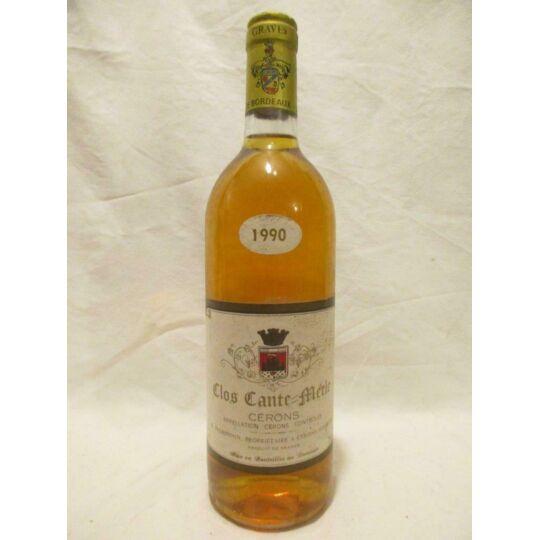 Cérons Clos Cante-merle Liquoreux 1990 - Bordeaux